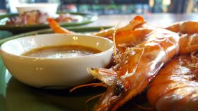 Σάλτσα γαρίδων και θαλασσινών στοκ φωτογραφία με δικαίωμα ελεύθερης χρήσης