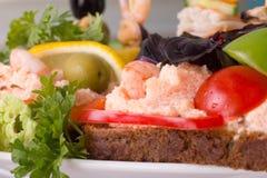 θαλασσινά σάντουιτς Στοκ εικόνα με δικαίωμα ελεύθερης χρήσης