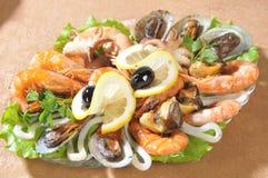 θαλασσινά σαλάτας Στοκ Εικόνες