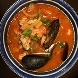 Θαλασσινά bouillabaisse στοκ εικόνες
