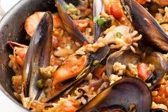 θαλασσινά paella στοκ φωτογραφία με δικαίωμα ελεύθερης χρήσης