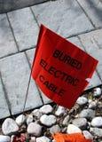 Θαμμένος ηλεκτρικός δείκτης καλωδίων Στοκ Εικόνες