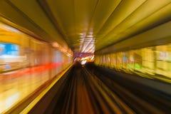Θαμπάδα διαδρομών υπογείων μετρό αφαίρεσης Στοκ εικόνα με δικαίωμα ελεύθερης χρήσης