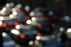 Θαμπάδα κυκλοφορίας ώρας κυκλοφοριακής αιχμής στοκ εικόνες με δικαίωμα ελεύθερης χρήσης