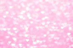 Θαμπάδων όμορφος ρομαντικός υποβάθρου καρδιών ρόδινος, ακτινοβολεί bokeh μαλακό ροζ σκιάς κρητιδογραφιών καρδιών φω'των, ζωηρόχρω στοκ εικόνες