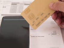 Θαμπάδα, τιμολόγηση, πληρωμή λογαριασμών στοκ φωτογραφία με δικαίωμα ελεύθερης χρήσης
