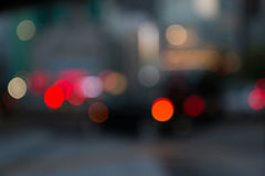 Θαμπάδα φωτεινών σηματοδοτών πόλεων νύχτας Στοκ Εικόνες