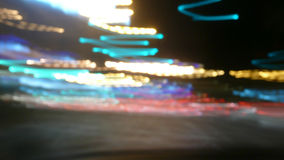 Θαμπάδα φω'των νύχτας Στοκ φωτογραφία με δικαίωμα ελεύθερης χρήσης
