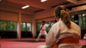 Θαμπάδα Defocused, Karate κατάρτιση απόθεμα βίντεο