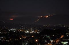 Θανάσιμη πυρκαγιά εθνικών δρυμός του Λος Άντζελες Στοκ Φωτογραφίες