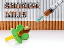 Θανατώσεις καπνίσματος SOS Στοκ Εικόνα