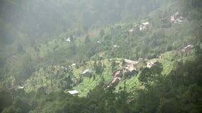 Θαυμάσια άποψη ορεινών χωριών απόθεμα βίντεο