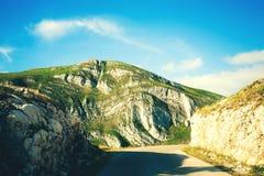 Θαυμάσια άποψη στα βουνά στο εθνικό πάρκο Durmitor στο Μαυροβούνιο, Βαλκάνια Ευρώπη Καρπάθιος, Ουκρανία, Ευρώπη Ταξίδι μέσω Monte Στοκ φωτογραφίες με δικαίωμα ελεύθερης χρήσης