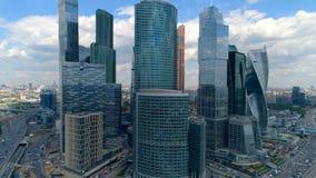 Θαυμάσια άποψη του διεθνούς εμπορικού κέντρου της Μόσχας φιλμ μικρού μήκους