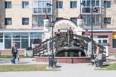 Θαυμάσια πηγή φαλαινών ψαριών yudo σε Tobolsk Στοκ εικόνες με δικαίωμα ελεύθερης χρήσης