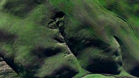 Θαυμάσια πράσινη άποψη τοπίων τομέων πυροβοληθείσα άνωθεν απόθεμα βίντεο