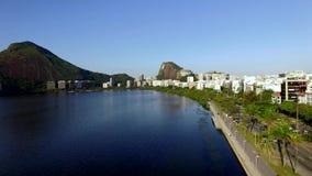 Θαυμάσια πόλη Θαυμάσιες θέσεις στον κόσμο Λιμνοθάλασσα και γειτονιά Ipanema στο Ρίο ντε Τζανέιρο, Βραζιλία φιλμ μικρού μήκους