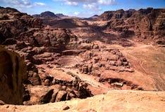 θαυμάσια όψη PETRA της Ιορδανί&alph στοκ εικόνα με δικαίωμα ελεύθερης χρήσης