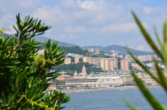 Θαυμάσιες απόψεις από τη θάλασσα η αρχαία πόλη Ιταλία στοκ φωτογραφίες με δικαίωμα ελεύθερης χρήσης