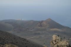 Θαυμάσιες απόψεις από τον υψηλότερο του ηφαιστείου του San Antonio στο νησί του Λα Palma στα Κανάρια νησιά Ταξίδι, φύση, στοκ εικόνες