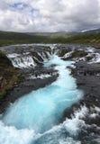 Θαυμάσιοι καταρράκτες Bruarfoss στην Ισλανδία Στοκ Εικόνες