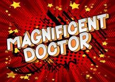 Θαυμάσιος γιατρός - φράση ύφους κόμικς διανυσματική απεικόνιση