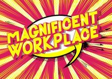 Θαυμάσιος εργασιακός χώρος - λέξεις ύφους κόμικς απεικόνιση αποθεμάτων