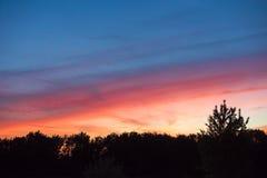 Θαυμάσιος ουρανός βραδιού Στοκ εικόνα με δικαίωμα ελεύθερης χρήσης