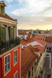 Θαυμάσιος ουρανός της Λισσαβώνας, Πορτογαλία Στοκ φωτογραφία με δικαίωμα ελεύθερης χρήσης