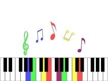 Θαυμάσιο ελαφρύ υπόβαθρο με τα στοιχεία του πιάνου ελεύθερη απεικόνιση δικαιώματος