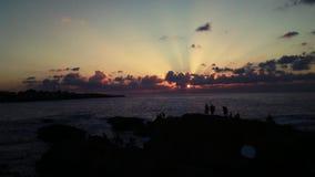 Θαυμάσιο ηλιοβασίλεμα στην Αλγερία στοκ εικόνες