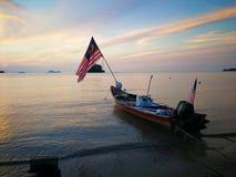 Θαυμάσιο ηλιοβασίλεμα στο pasir pandak, kuching sarawak Στοκ φωτογραφία με δικαίωμα ελεύθερης χρήσης