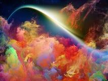 Θαυμάσιο διαστημικό νεφέλωμα στοκ φωτογραφίες με δικαίωμα ελεύθερης χρήσης