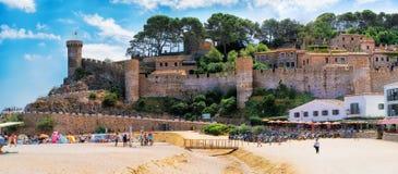 Θαυμάσιο κάστρο Tossa de Mar, Ισπανία Στοκ Εικόνες
