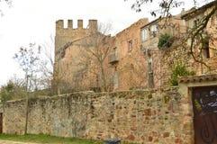 Θαυμάσιο μεσαιωνικό σπίτι του XIV αιώνα με δύο πύργους σε Siguenza Αρχιτεκτονική, ταξίδι, αναγέννηση Στοκ φωτογραφία με δικαίωμα ελεύθερης χρήσης