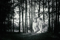 Θαυμάσιο παραμύθι έννοιας με το όμορφο κορίτσι Στοκ Φωτογραφία