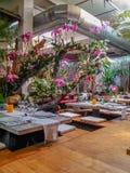 Θαυμάσιο ταϊλανδικό ύφος διακοσμήσεων σε ένα εστιατόριο στη Βαρκελώνη Στοκ φωτογραφίες με δικαίωμα ελεύθερης χρήσης