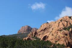Θαυμάσιο τοπίο του βουνού Esterel σε γαλλικό Riviera, VAR, Γαλλία Στοκ φωτογραφία με δικαίωμα ελεύθερης χρήσης