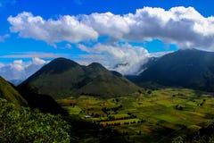 Θαυμάσιο του Εκουαδόρ εθνικό πάρκο ηφαιστείων Pululahua κοιμισμένο γνωστό ως nica Pululahua Reserva Geobotà ¡ Στοκ Εικόνες