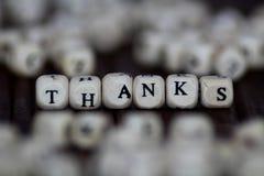 Θαυμαστικό ευχαριστιών - απομονωμένο κείμενο Στοκ εικόνες με δικαίωμα ελεύθερης χρήσης
