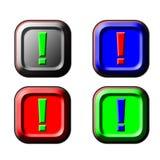 θαυμαστικό κουμπιών στοκ φωτογραφίες