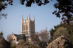 ΘΑΨΤΕ ΤΟ ST EDMUNDS, SUFFOLK/UK - 24 ΑΠΡΙΛΊΟΥ: Μια άποψη Bury StEdmun στοκ φωτογραφίες