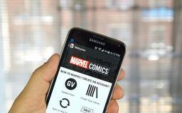 Θαύμα Comics app Στοκ φωτογραφία με δικαίωμα ελεύθερης χρήσης