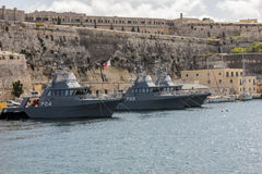 Θαλάσσια άγκυρα βαρκών στο παλαιό λιμάνι στο Λα Valletta Στοκ εικόνα με δικαίωμα ελεύθερης χρήσης