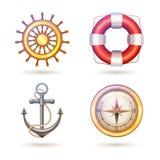 Θαλάσσια σύμβολα καθορισμένα Στοκ φωτογραφίες με δικαίωμα ελεύθερης χρήσης