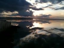 Θαλάσσια δύση Kirby Wirral λιμνών στοκ φωτογραφία