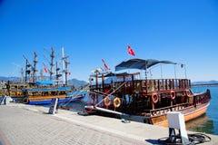 Θαλάσσιες βάρκες Τουρκία Στοκ Εικόνα