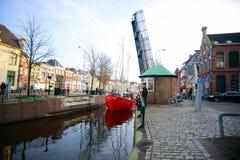 Θαλάσσιος λιμένας στις Κάτω Χώρες Στοκ Φωτογραφία