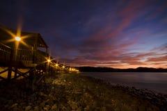 Θαλάσσιος περίπατος από το φως Στοκ φωτογραφία με δικαίωμα ελεύθερης χρήσης