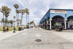 Θαλάσσιος περίπατος της Βενετίας Καλιφόρνια Στοκ εικόνα με δικαίωμα ελεύθερης χρήσης